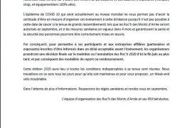 Roc'h des Monts d'Arrée 2020 Déclaration officielle
